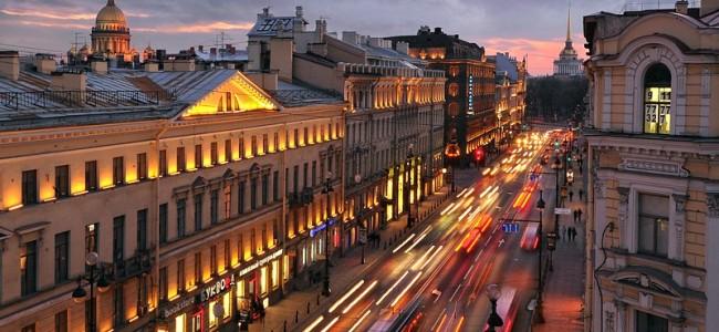 La Prospettiva Nevskij di San Pietroburgo
